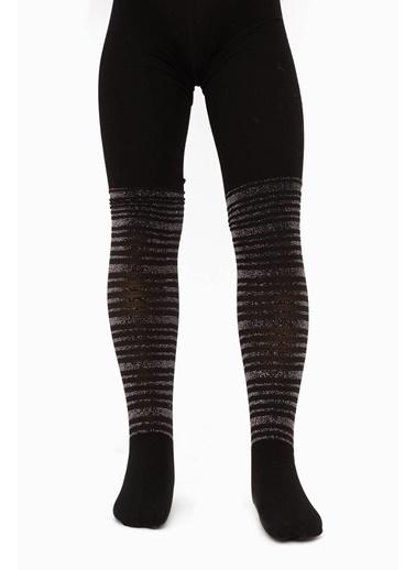 Tyess Kız Çocuk Siyah Çorap Siyah